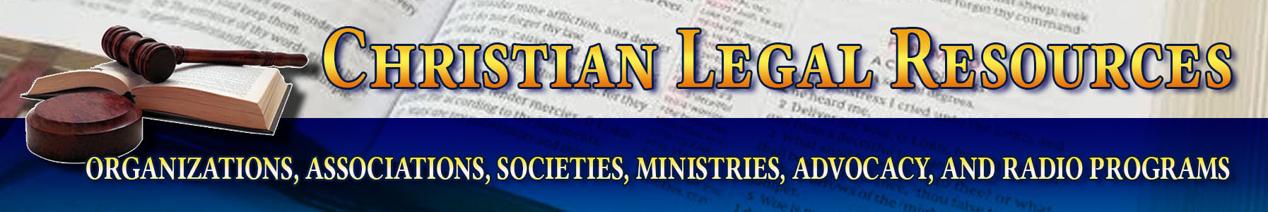Christian Legal Resources